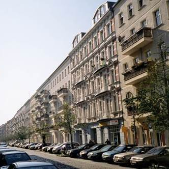Mainzer Straße, in Berlin's Friedrichshain district, is a good example of industrial-era historicist tenement housing (construction ca. 1871-1914).